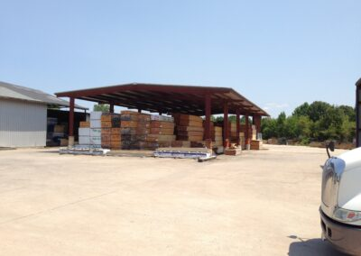 Covered Lumber Yard