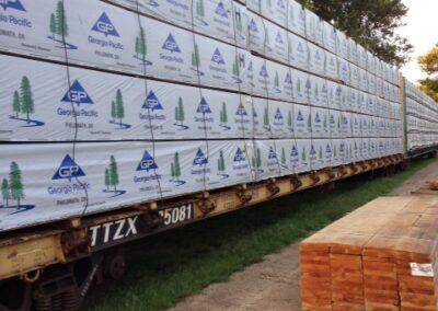 Materials Coming Via Railroad