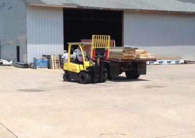 Forklift Loading Building Materials